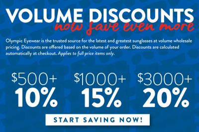 Volume Discounts - Olympic Eyewear