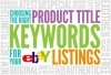 Increase your eBay sales by optimising your eBay listing titles!